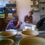 Jed Gjerek, ceramic art and pottery wheel throwing, workshop